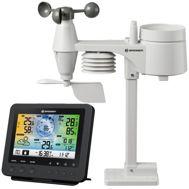 BRESSER WIFI color weather center with 5in1 profi sensor