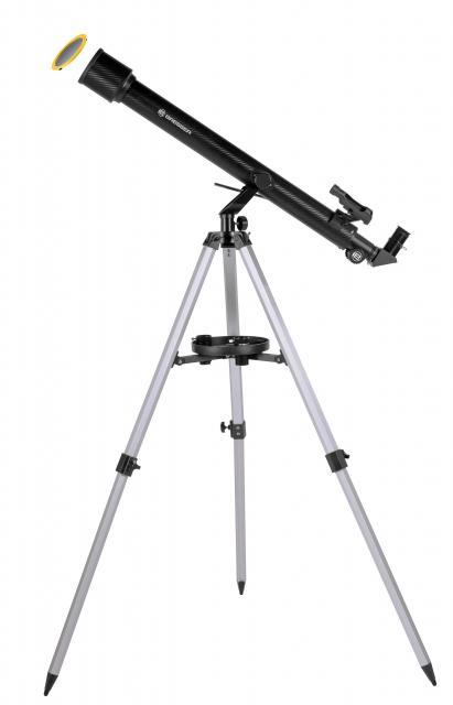 BRESSER Stellar 60/800 AZ - Refractor telescope with smartphone camera adapter & solar filter
