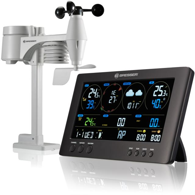 BRESSER WIFI ClearView Weather Center with 7-in-1 Sensor