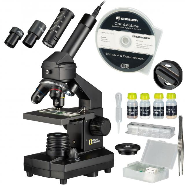 NATIONAL GEOGRAPHIC Mikroscope-Set 40x-1024x USB (incl. Case and USB eyepiece)